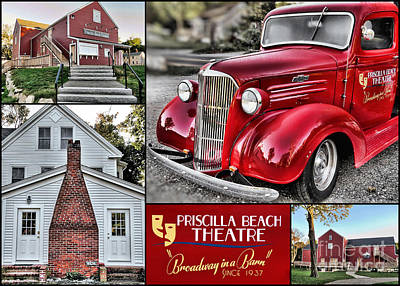 Photograph - Priscilla Beach Theatre Collage  by Janice Drew