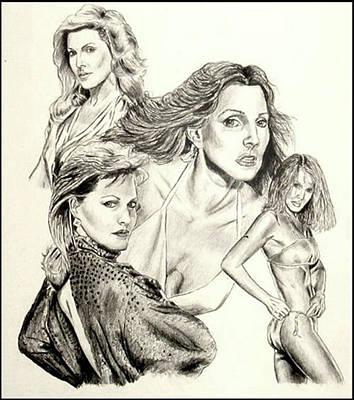 Priscilla Presley Montage Art Print