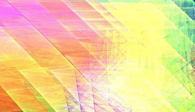 Chakra Rainbow Digital Art - Prism Lines by Kim Sy Ok