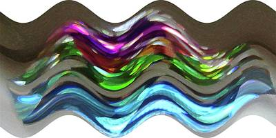 Digital Art - Prism Waves by Ellen Barron O'Reilly