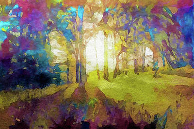Painting - Prismatic Forest by Susan Maxwell Schmidt