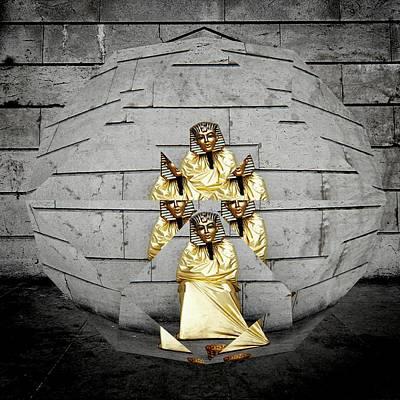 Prismatic Vision Gold Pharaoh Art Print