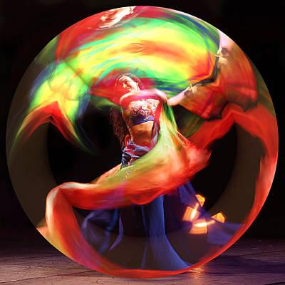 Photograph - Prismatic Vision Oriental Dancer by Benoit Beal