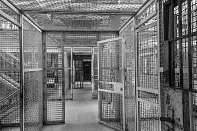 Maze Book Photograph - Prison Maze by Steven Bateson