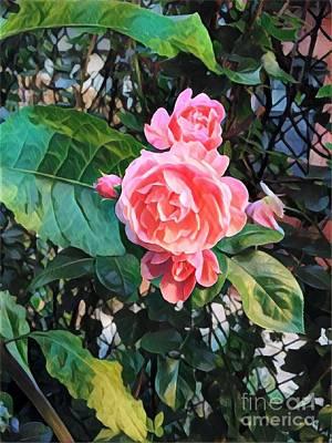 Photograph - Prisoner Of The City - Backyard Beauty Series - Flowers by Miriam Danar