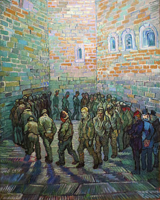 Painting - Prisoners Exercising Van Gogh 1890 by Vincent Van Gogh