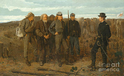 Military Uniform Painting - Prisoners From Front, 1866 by Winslow Homer