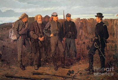 Military Uniform Painting - Prisoners From The Front by Winslow Homer