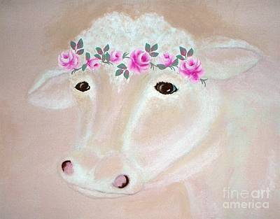 Painting - Prissy Cow by Ej Catoe