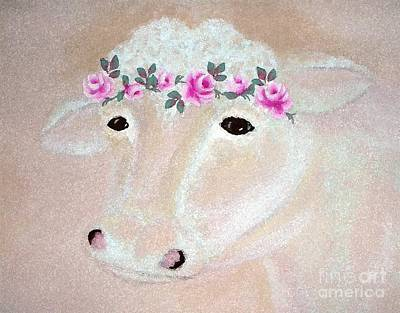 Digital Art - Prissy Cow Wc103 by Ej Catoe
