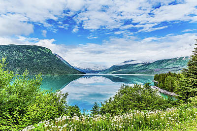 Landscapes Royalty-Free and Rights-Managed Images - Pristine Blue Alaskan Lake by Darryl Brooks