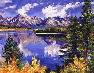 Painting -  Pristine Blue by David Lloyd Glover