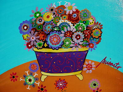 Whimsical Painting - Pristine Flowers by Pristine Cartera Turkus