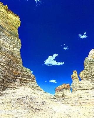 Photograph - Pristine Sky Meets Historic Rocks by Michael Oceanofwisdom Bidwell