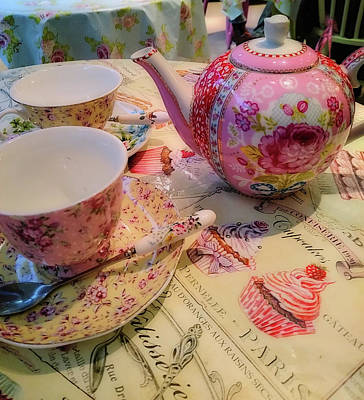 Photograph - Pristine Tea Time by JAMART Photography