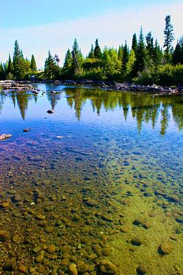 Photograph - Pristine Waters In The Tetons by Polly Castor