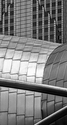 Photograph - Pritzker Pavilion And Prudential Plaza V2 Dsc2753 by Raymond Kunst