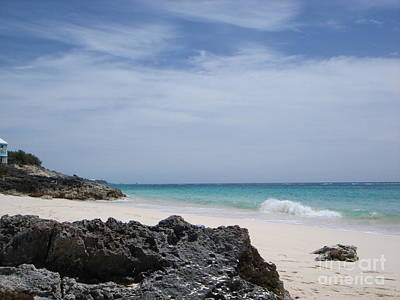 Private Bermuda Beach Art Print by PJ  Cloud
