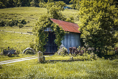 Music Royalty-Free and Rights-Managed Images - Private Covered Bridge by Jack R Perry