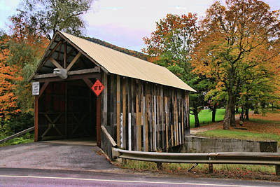Photograph - Private Covered Bridge by Allen Beatty