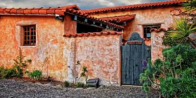 Photograph - Private Entrance, Carmel Mission, Carmel, California by Flying Z Photography by Zayne Diamond