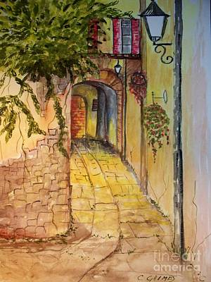 Art Print featuring the painting Private Entrance by Carol Grimes