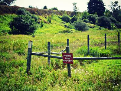 Photograph - Private Farm Property by Cyryn Fyrcyd