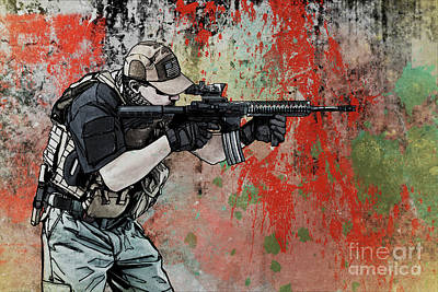Pmc Photograph - Private Military Contractor  by Oleg Zabielin