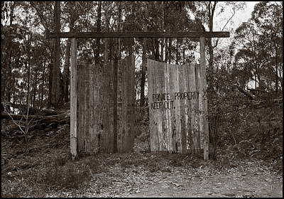 Photograph - Private Property by Werner Hammerstingl