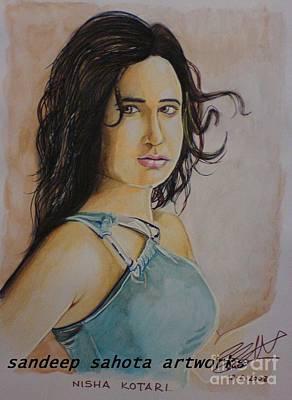 Alfred George Stevens Drawing - Priyanka Kothari by Sandeep Kumar Sahota