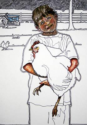 Prize Hen Art Print