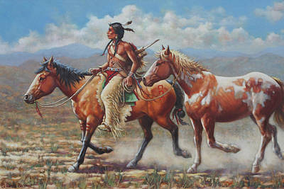 Indian Pony Painting - Prize Pony by Harvie Brown