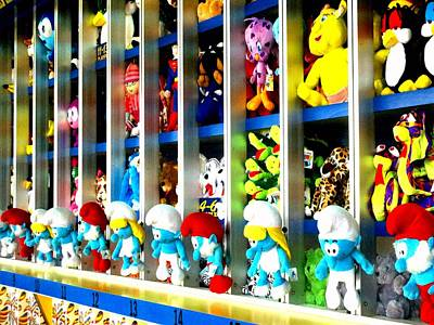 Photograph - Prize Smurfs by Marianne Dow