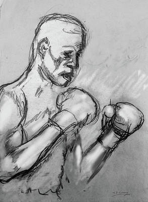 Drawing - Prizefighter by Tom Conway