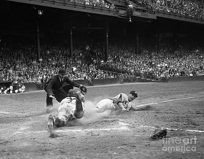 Home Plate Photograph - Pro Baseball Game, C.1950s by H. Armstrong Roberts/ClassicStock