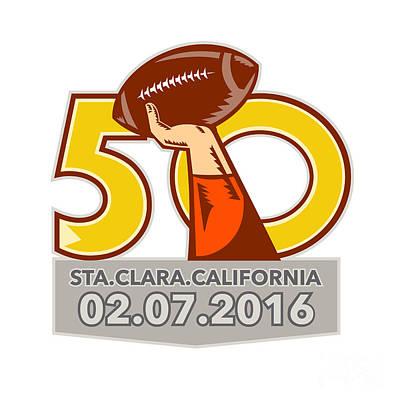 Bay Area Digital Art - Pro Football Championship 50 2016 by Aloysius Patrimonio