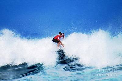 Triple Crown Of Surfing Photograph - Pro Surfer Alex Ribeiro by Scott Cameron