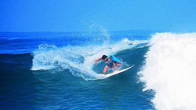Hawaii Photograph - Pro Surfer Ezekiel Lau-2 by Scott Cameron