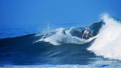 Triple Crown Of Surfing Photograph - Pro Surfer Gabe King - 2 by Scott Cameron