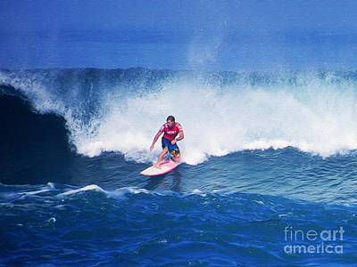 Triple Crown Of Surfing Photograph - Pro Surfer Glenn Hall by Scott Cameron