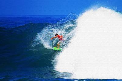 Triple Crown Of Surfing Photograph - Pro Surfer Keanu Asing-4 by Scott Cameron