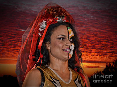 Photograph - Pro Woman Wrestler Thunder Rosa At The End Of A Day by Jim Fitzpatrick