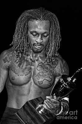 Photograph - Pro Wrestler And Winner Of The 2017 Young Lion's Cup Chris Bey Black And White Version  by Jim Fitzpatrick