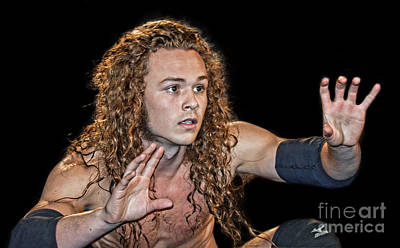 Photograph - Pro Wrestler Jungle Boy Ready To Lock Up by Jim Fitzpatrick