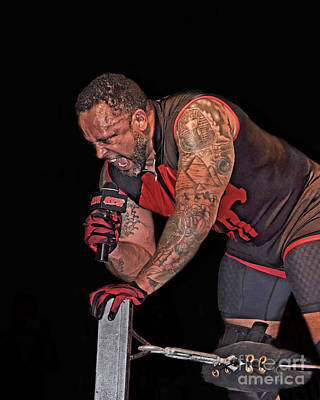 Photograph - Pro Wrestler M V P Issuing A Challenge  by Jim Fitzpatrick