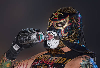 Digital Art - Pro Wrestler Pentagon Jr During His Entrance   by Jim Fitzpatrick