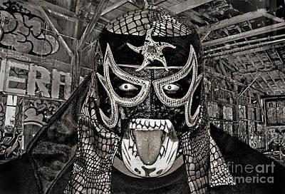 Digital Art - Pro Wrestler Pentagon Jr In His Hideout II by Jim Fitzpatrick