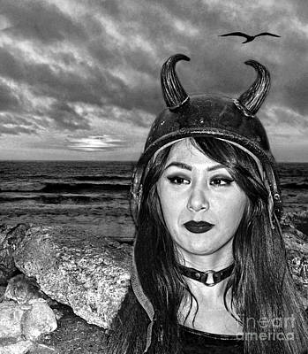 Photograph - Pro Wrestler Shotzi Blakk Heartt At The End Of A Day Black And White Version by Jim Fitzpatrick