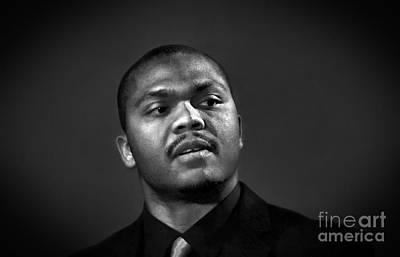 Photograph - Pro Wrestling Announcer  Lucian D. Light by Jim Fitzpatrick