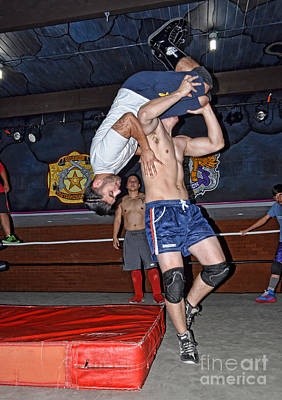 Photograph - Pro Wrestling Backdrop by Jim Fitzpatrick